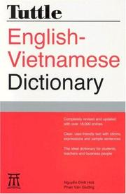 Cover of: Tuttle English-Vietnamese Dictionary