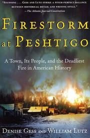 Cover of: Firestorm at Peshtigo