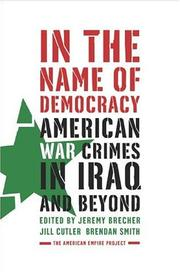 Cover of: In the Name of Democracy