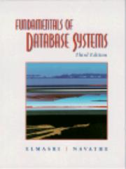 Cover of: Fundamentals of Database Systems (3rd Edition)
