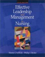 Cover of: Effective Leadership and Management in Nursing (5th Edition)