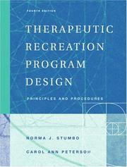 Cover of: Therapeutic Recreation Program Design