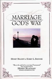 Cover of: Marriage God's Way