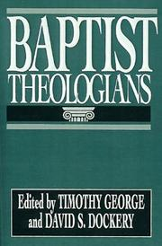 Cover of: Baptist Theologians