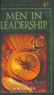 Cover of: Men in Leadership
