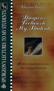 Cover of: Spurgeon's Lectures to My Students