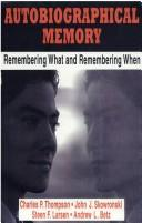 Cover of: Autobiographical Memory