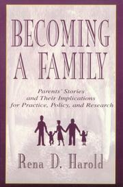 Cover of: Becoming A Family