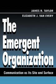 Cover of: The Emergent Organization