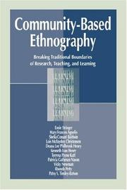 Cover of: Community-Based Ethnography