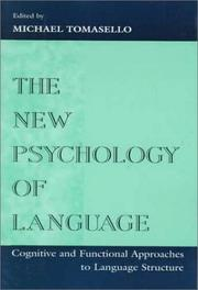 Cover of: The New Psychology of Language