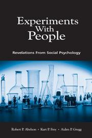 Cover of: Experiments With People