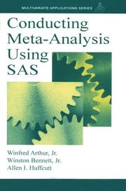 Cover of: Conducting Meta-Analysis Using SAS (A Volume in the Multivariate Applications Series)