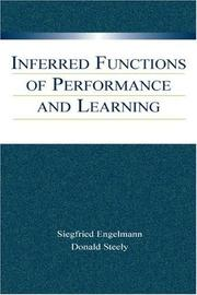 Cover of: Inferred Functions of Performance and Learning