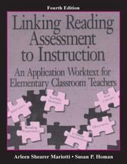 Cover of: Linking Reading Assessment to Instruction