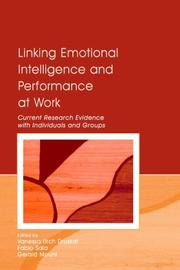 Cover of: Linking Emotional Intelligence And Performance At Work