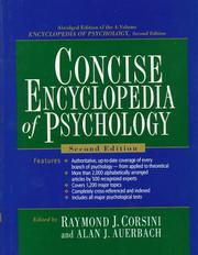Cover of: Concise encyclopedia of psychology