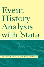Cover of: Event History Analysis With Stata