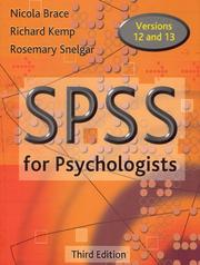 Cover of: SPSS for Psychologists