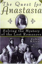Cover of: The Quest for Anastasia