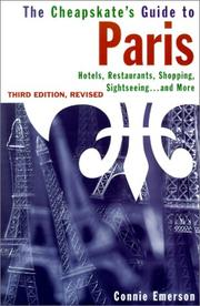 Cover of: The Cheapskate's Guide to Paris 3rd Edition