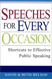 Cover of: Speeches For Every Occasion