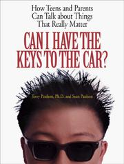 Cover of: Can I Have the Keys to the Car?