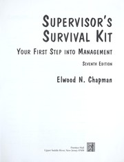 Cover of: Supervisor's survival kit