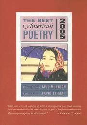 Cover of: The Best American Poetry 2005