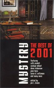 Cover of: The Best Mysteries of 2001