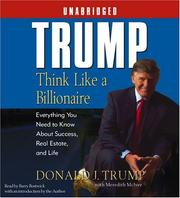 Cover of: Trump:Think Like a Billionaire