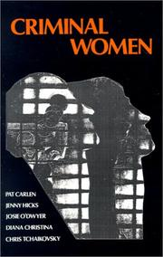 Cover of: Criminal Women