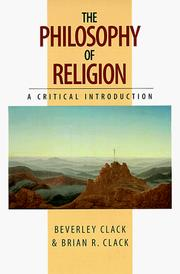 Cover of: The Philosophy of Religion