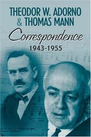 Cover of: Correspondence: 1943 - 1955