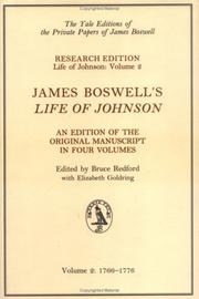 "Cover of: Boswell's ""Life of Johnson"""