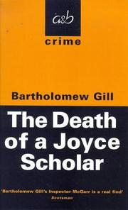 Cover of: The Death of a Joyce Scholar (A&B Crime)