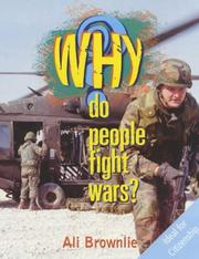 Cover of: Why Do People Fight Wars? (Why)