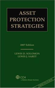 Cover of: Asset Protection Strategies, 2007 Edition (with CD)