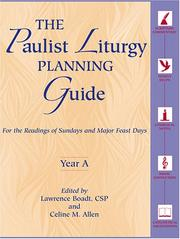 Cover of: The Paulist Liturgy Planning Guide