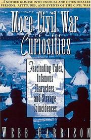 Cover of: More Civil War curiosities