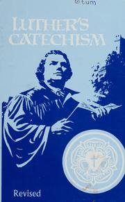 Cover of: Luther's catechism