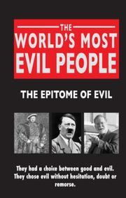 Cover of: The World's Most Evil People