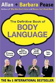 Cover of: The Definitive Book of Body Language