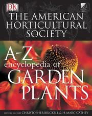 Cover of: American Horticultural Society A to Z Encyclopedia of Garden Plants