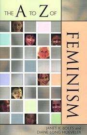 Cover of: The A to Z of Feminism
