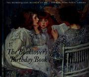 Cover of: The Booklover's Birthday Book