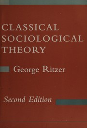 Cover of: Classical sociological theory