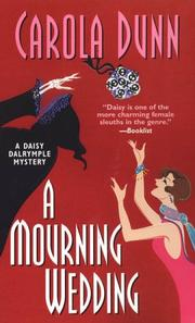 Cover of: A Mourning Wedding (Daisy Dalrymple Mysteries)