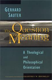 Cover of: The question of meaning