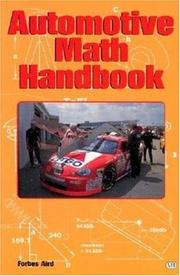 Cover of: Automotive Math Handbook